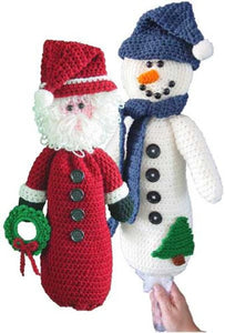 Santa and Snowman Bag Keeper Crochet Pattern - Maggie's Crochet