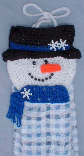 Santa And Snowman Towel Toppers Crochet Pattern Maggie S
