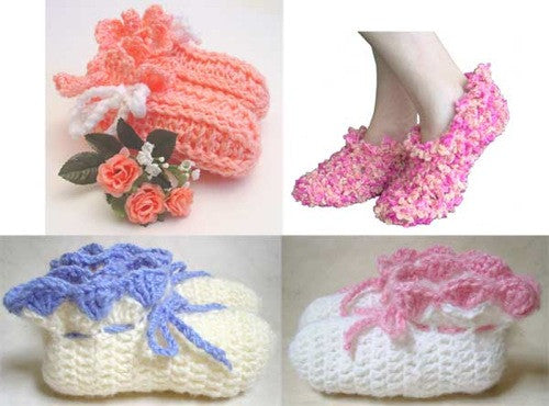 Slippers, Slippers and More Slippers Crochet Pattern - Maggie's Crochet