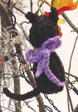 halloween black cat ornament