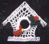 thread birdhouse ornament