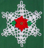 snowflake thread ornament