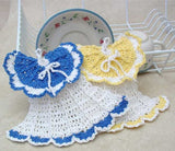 vintage crochet dishcloths