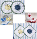 Vintage Dishcloths and Potholders Crochet Pattern - Maggie's Crochet