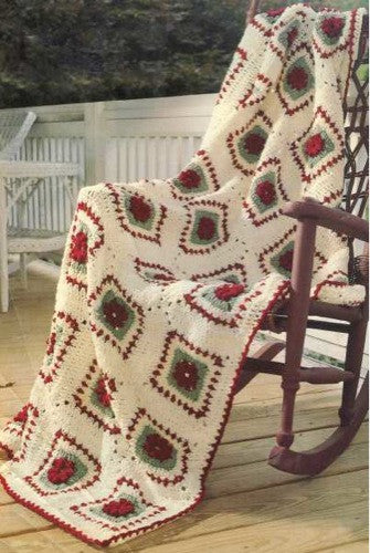 Gauge To Mm >> Vintage Rose Afghan Crochet Pattern – Maggie's Crochet