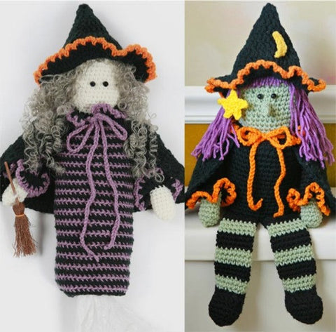 witch bag holder toilet paper topper crochet