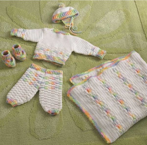 Worsted Weight Layette Crochet Pattern - Maggie's Crochet