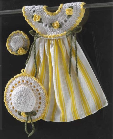 yellow rose oven door dress crochet pattern stripe hat