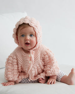 Baby Puff Stitch Sweater and Hat - Maggie's Crochet