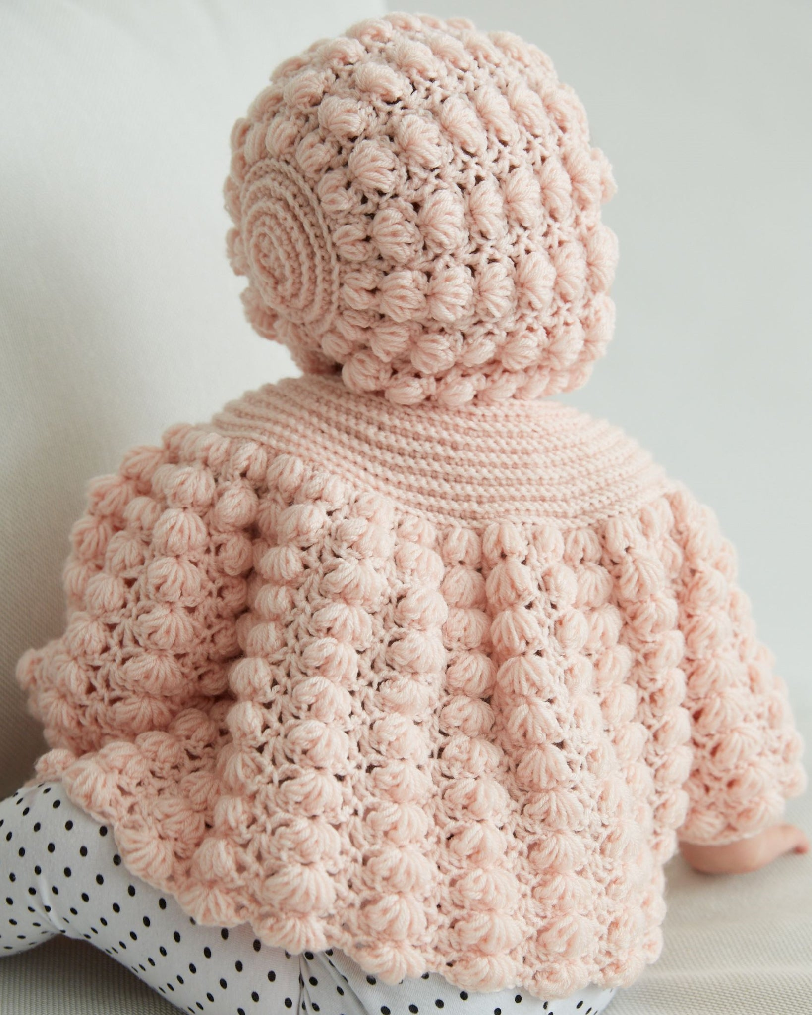 Baby Puff Stitch Sweater and Hat – Maggie\'s Crochet