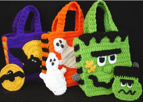 halloween bags with money holders bat ghost frankenstein