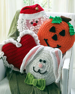 Holiday Pillows Crochet Pattern Set 1 -Crochet on The Double - Maggie's Crochet