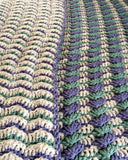 Textured Shells Afghan Crochet Pattern