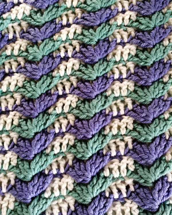 Textured Shells Afghan Crochet Pattern Maggies Crochet