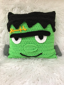 Crochet Pattern Beginner Project Frankenstein Pillow - Maggie's Crochet