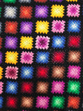 Crochet Pattern Granny Square Vintage Afghan Stained Glass - Maggie's Crochet