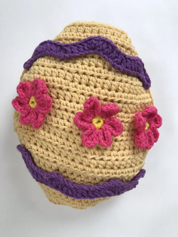 Easter Egg Pillow Crochet Pattern