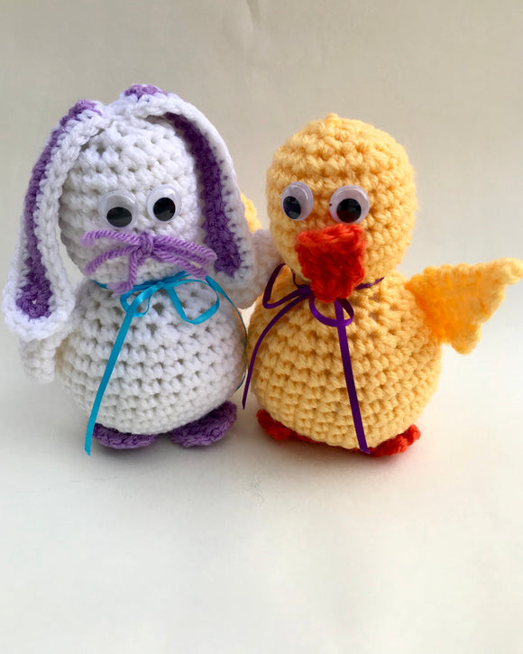 Darla Duck and Bernice Bunny Crochet Pattern - Maggie's Crochet