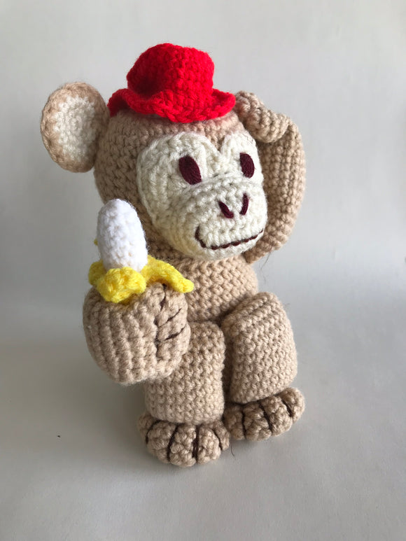 Crochet Pattern Easy Amigurumi Toy Monkey