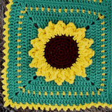 green and yellow sunflower afghan