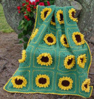 sunflower afghan crochet pattern