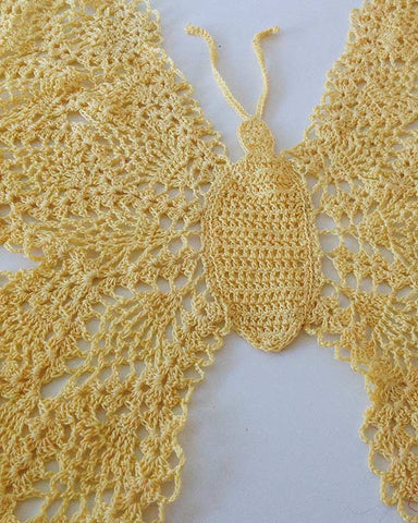 Beautiful Butterfly Doily Crochet Pattern