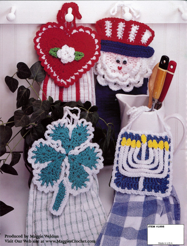 Holiday Towel Toppers Crochet Pattern Leaflet Maggie S
