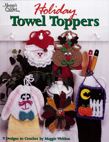 Holiday Towel Toppers Crochet Pattern Leaflet