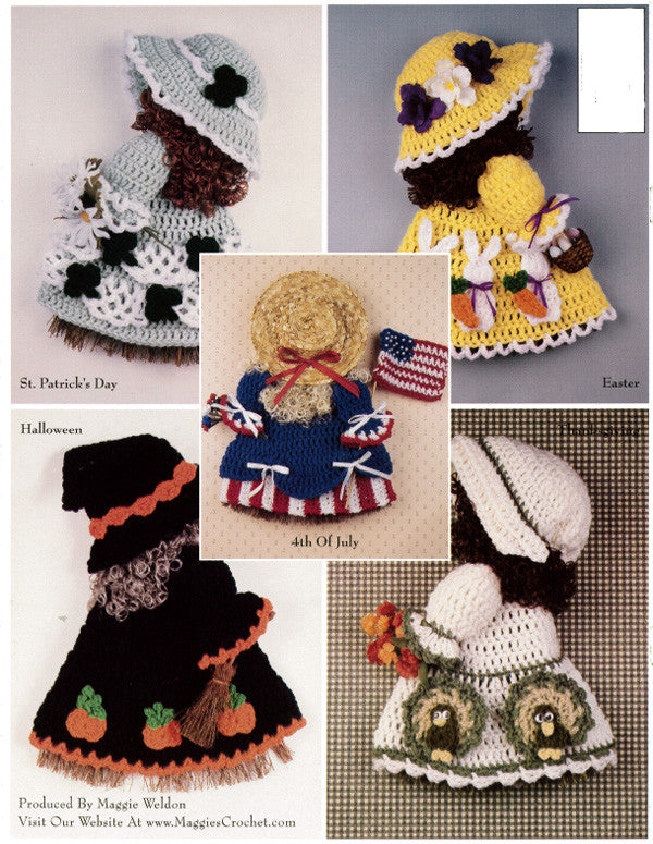 Holiday Broom Dolls 2 Crochet Pattern Pdf Only Maggie S