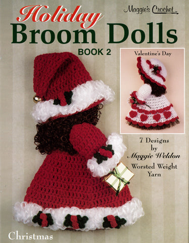 Holiday Broom Dolls 2 Crochet Pattern PDF ONLY