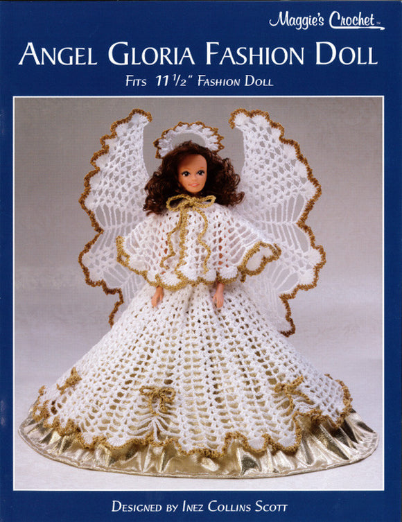 Angel Gloria Fashion Doll Crochet Pattern Leaflet - Maggie's Crochet