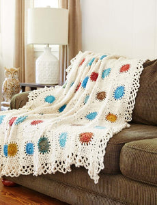 """You're My Universe"" Afghan & Pillow Set Crochet Pattern"