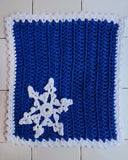 blue and white dish cloth