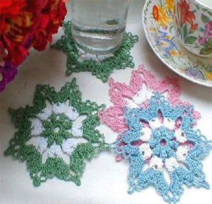 Little Blossoms Coasters Pattern - Maggie's Crochet