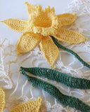 Daffodil Table Topper Crochet Pattern