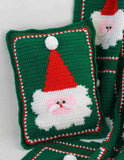 green santa pillow