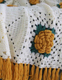 Yellow rose afghan upclose