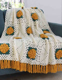 Yellow rose afghan