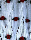 Rose afghan close up