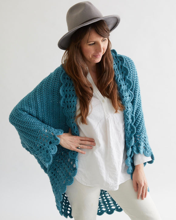 Shell Edged Jacket Crochet Pattern - Maggie's Crochet