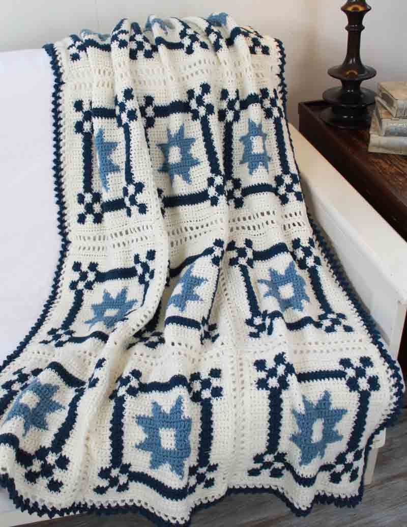 Mother S Fancy Star Quilt Afghan Pattern Maggie S Crochet