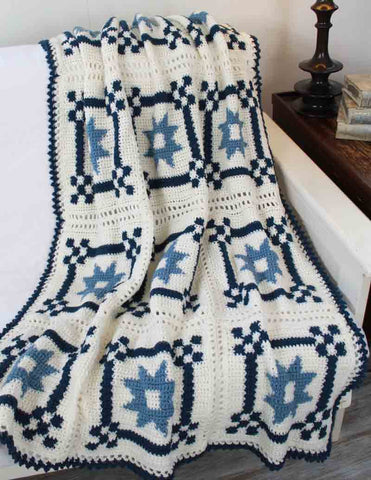 Mother's Fancy Star Quilt Afghan Pattern - Maggie's Crochet