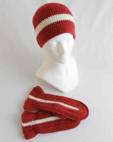super easy hat and mitten set crochet pattern