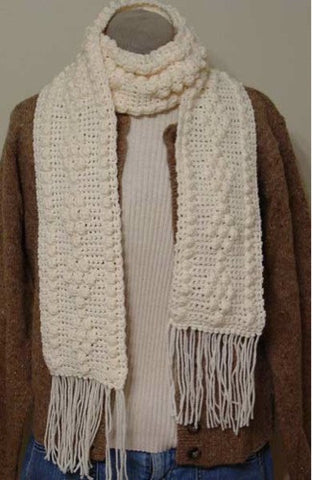 simple creme scarf