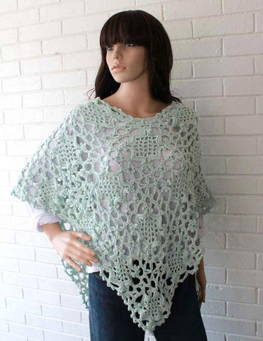 elegant light blue poncho