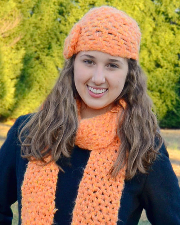 Divine Hat and Scarf Set - Maggie's Crochet