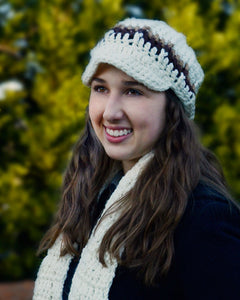 Newsboy Hat and Scarf Set - Maggie's Crochet