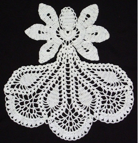 white angel doily