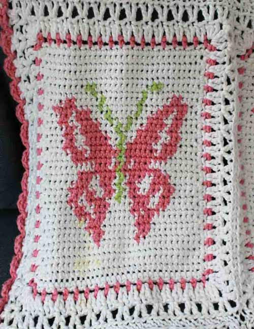 Butterfly Afghan And Pillow Set Crochet Pattern Maggie S