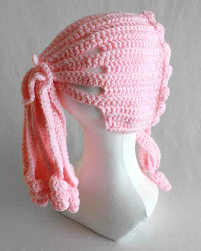 pink ponytail hat
